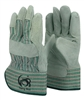 1 dozen (12 pairs) Cowhide Green leather palm work glove