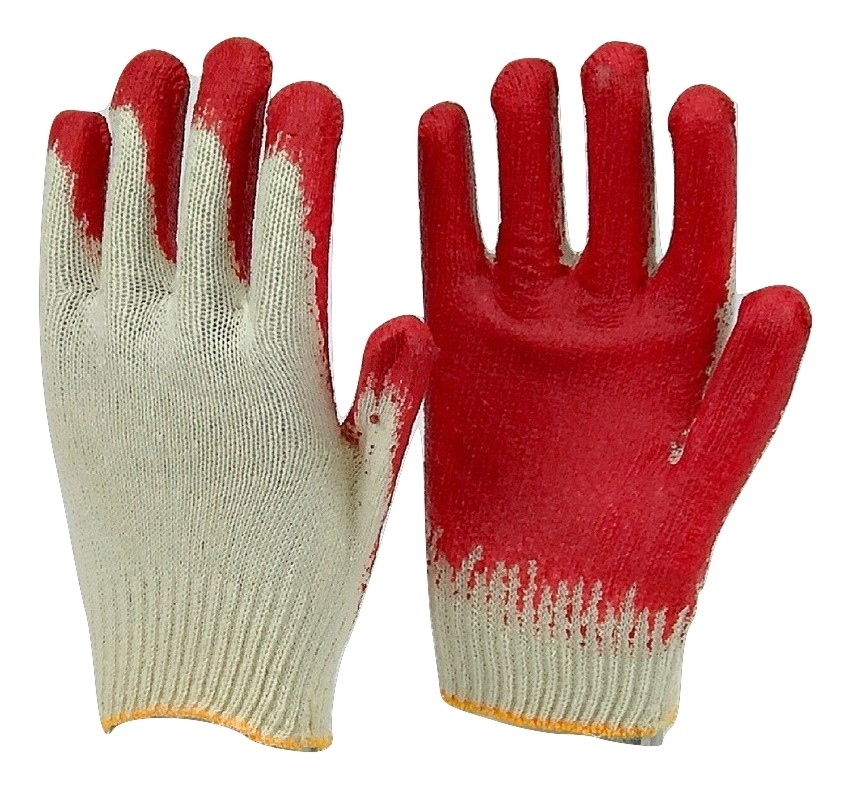 Fresh 40 pairs Korean RED LATEX PALM COATED STRING KNIT WORK GLOVE BK69