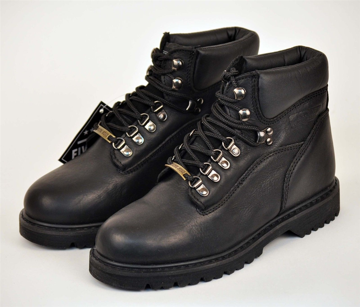 Five Star 6 Quot Black Leather Heavy Duty Work Boots