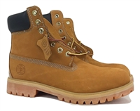 061 Jacata Brand Men's Genuine Leather Wheat Classic Padded Collar Style Construction boots