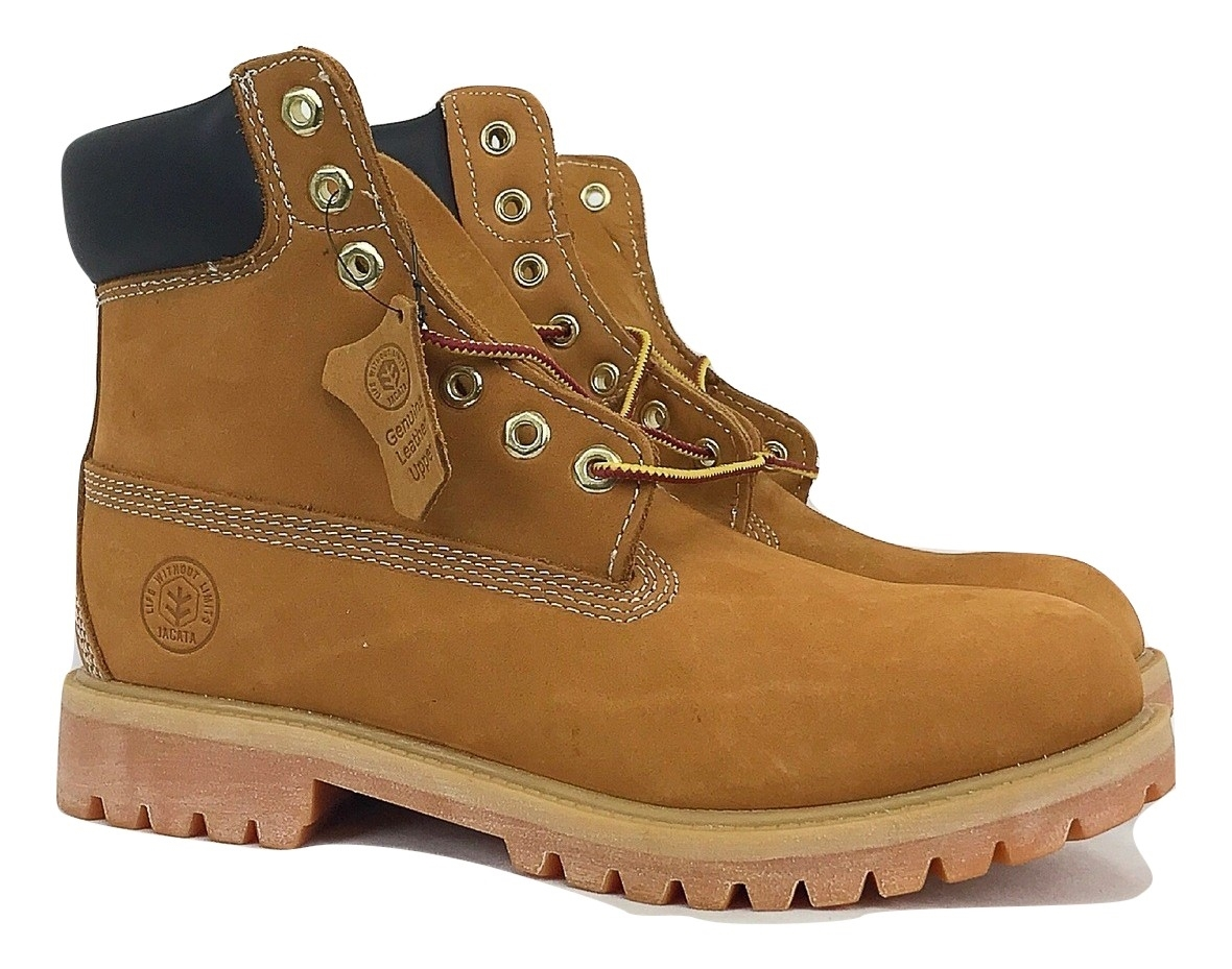 7bcb99b53a5 Jacata Brand Men's Genuine Leather Wheat Classic Padded Collar Style  Construction boots