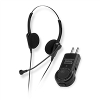 Chameleon 2232 Binaural Telephone Headset & ACD/PBX Two Prong Amplifier Combo