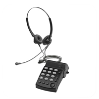 Eco Series Dual Ear Noise Canceling Headset - w/ DA202 Telephone 2003B-3003