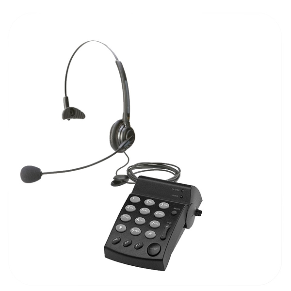 Eco Series Single Ear Noise Canceling Headset + DA202 Telephone