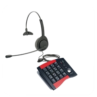 Air Series Single Ear Noise Canceling Headset - w/ DA207 Telephone