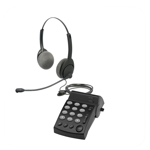 Air Series Dual Ear Noise Canceling Headset - w/ DA202 Telephone