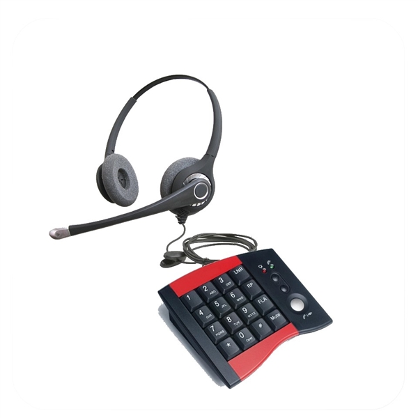 Flex Series Dual Ear Noise Canceling Headset - w/ DA207 Telephone