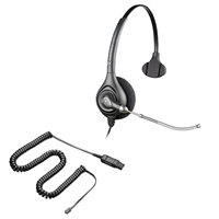 Plantronics HW251 SupraPlus Headset w/ Voice Tube - 26716-01 Amplifier/Cisco Direct Connect Cable Bundle