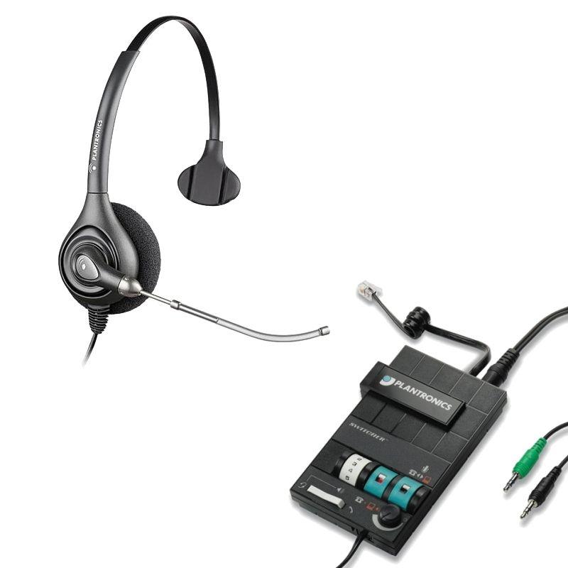 294aa2c786d Plantronics HW251 SupraPlus Headset w/ Voice Tube - MX10 Multimedia  Amplifier Bundle