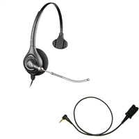 Plantronics HW251 SupraPlus Headset w/ Voice Tube - Cisco Cable - 2.5mm/QD SPA Bundle