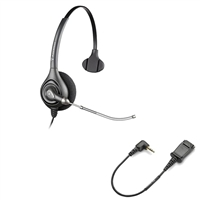 Plantronics HW251 SupraPlus Headset w/ Voice Tube - Cisco Cable - 2.5mm N1-QD Bundle
