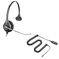 Plantronics HW251 SupraPlus Headset w/ Voice Tube - A10 Direct Connect Cable Bundle