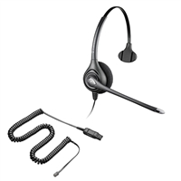 Plantronics HW251N SupraPlus Headset w/ Noise Canceling Mic - 26716-01 Amplifier/Cisco Direct Connect Cable Bundle