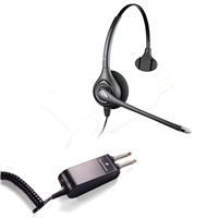 Plantronics HW251N SupraPlus Headset w/ Noise Canceling Mic - P10/2250 Amplifier 2 Prong Bundle