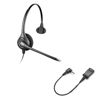 Plantronics HW251N SupraPlus Headset w/ Noise Canceling Mic - Cisco Cable - 2.5mm N1-QD Bundle