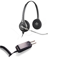 Plantronics HW261 SupraPlus Headset w/ Voice Tube - P10/2250 Amplifier 2 Prong Bundle