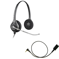 Plantronics HW261 SupraPlus Headset w/ Voice Tube - Cisco Cable - 2.5mm/QD SPA Bundle