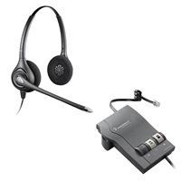 Plantronics HW261N SupraPlus Headset w/ Noise Canceling Mic - M22 Vista Amplifier Bundle