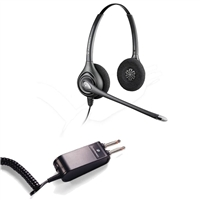 Plantronics HW261N SupraPlus Headset w/ Noise Canceling Mic - P10/2250 Amplifier 2 Prong Bundle