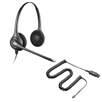Plantronics HW261N SupraPlus Headset w/ Noise Canceling Mic - A10 Direct Connect Cable Bundle