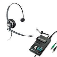 Plantronics HW710 EncorePro w/ Noise Canceling Mic - MX10 Multimedia Amplifier Bundle