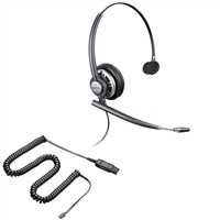 Plantronics HW291N EncorePro w/ Noise Canceling Mic - HIC Adapter Cable Bundle