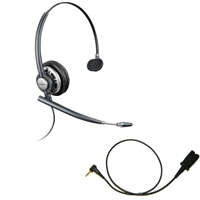 Plantronics HW291N EncorePro w/ Noise Canceling Mic - Cisco Cable - 2.5mm/QD SPA Bundle