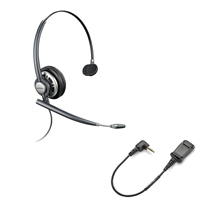 Plantronics HW291N EncorePro w/ Noise Canceling Mic - 2.5mm N1-QD Bundle