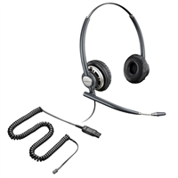 Plantronics HW720 EncorePro Headset w/ Noise Canceling Mic - 26716-01 Amplifier/Cisco Direct Connect Cable Bundle