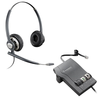 Plantronics HW720 EncorePro Headset w/ Noise Canceling Mic - M22 Vista Amplifier Bundle