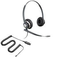 Plantronics HW720 EncorePro Headset w/ Noise Canceling Mic - HIC Adapter Cable Bundle