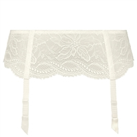 Ivory all lace Suspender Belt