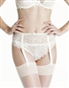 Gorgeous ivory lace suspender belt