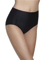 Black high waist microfibre control brief