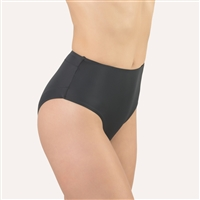 Black high waist and high leg cut microfibre brief