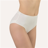 Ivory high waist and high leg cut microfibre brief