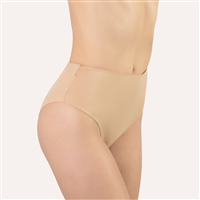 Nude high waist and high leg cut microfibre brief
