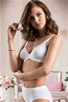 Smooth soft cup bra without underwire pictured in white
