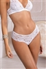 All lace brazilian style brief pictured in white