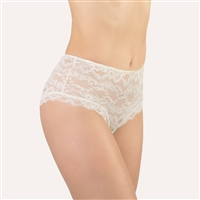 Beautiful ivory all lace shorty style brief made in Italy