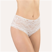Beautiful white lace shorty style brief made in Italy