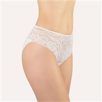 Beautiful white lace bikini brief by designer label, Made in Italy