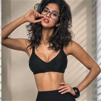 Smooth soft cup bra without underwire made from a beautiful soft microfibre fabric