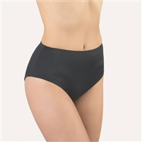 Good quality black high waist brief made from super soft microfibre fabric