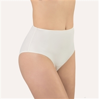 Good quality ivory high waist brief made from super soft microfibre fabric