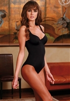 High quality bodysuit made from a soft microfiber fabric featuring a smooth & shaping design with underwire cups