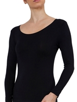 Bamboo long sleeve soft stretch top