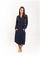 Soft and luxurious cashmere robe with pockets and tie for around the waist