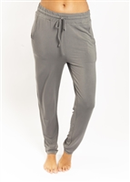 Eco bamboo pants that are delicately soft and drape beautifully with an elastic waist and front tie.