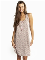 Linen and Cotton Printed sleeveless nightdress with exquisite Liberty designs. Featuring thin shoulder straps and it sits above the knee.